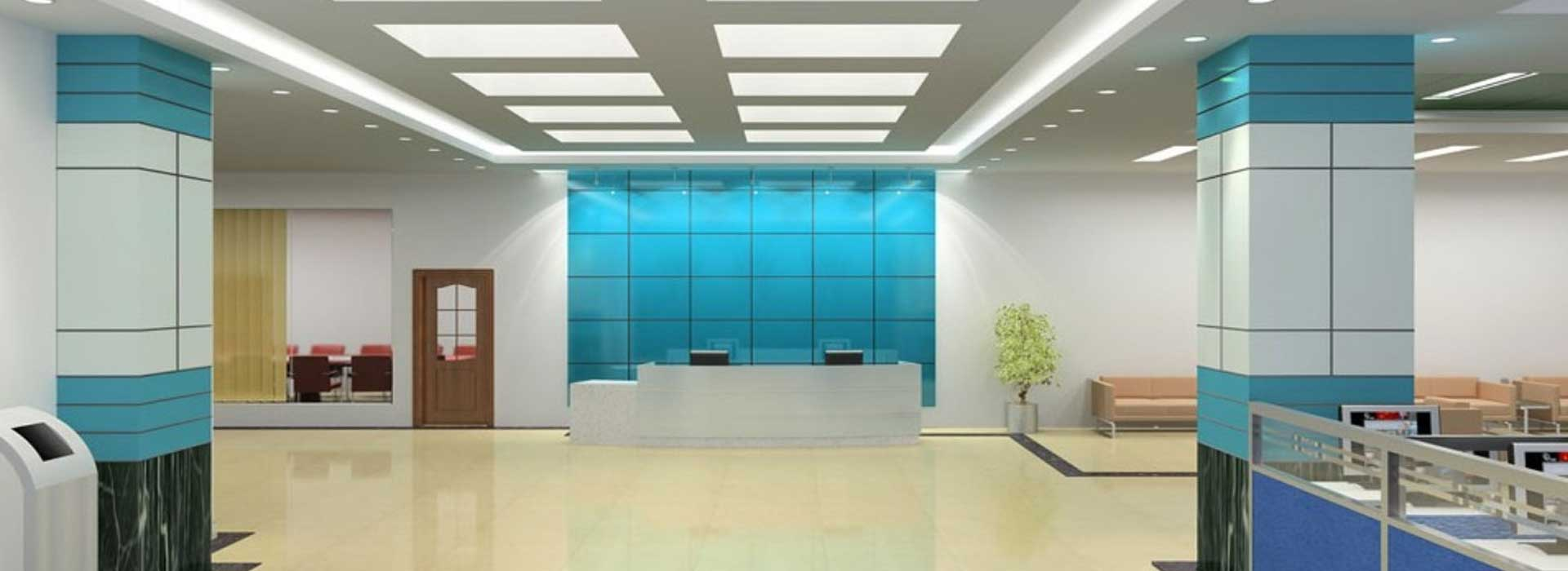 Office building interiors by jaipur interiors for Commercial interior design firms the list