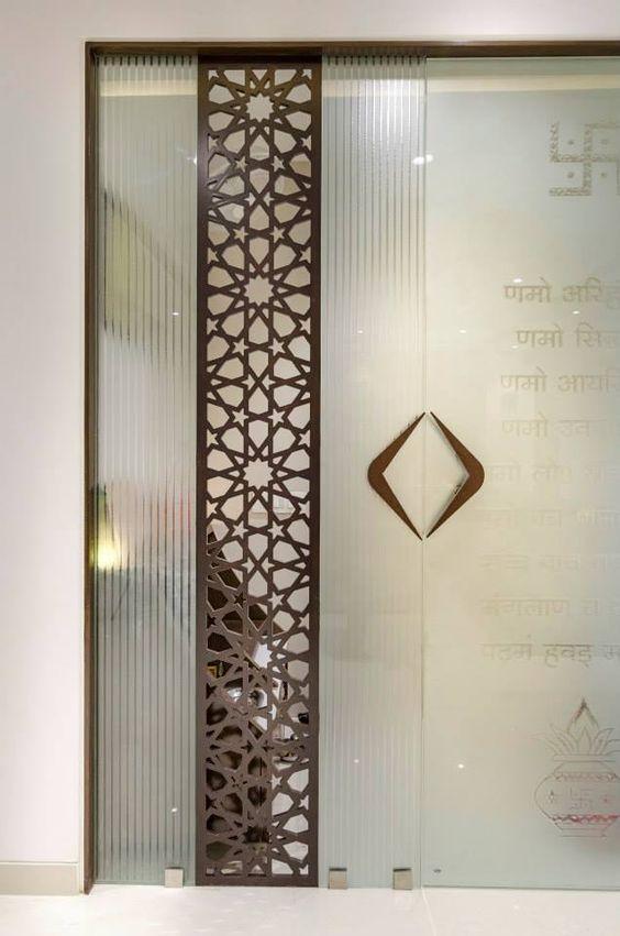 Jaipur interiors mdf designs for Main door glass design