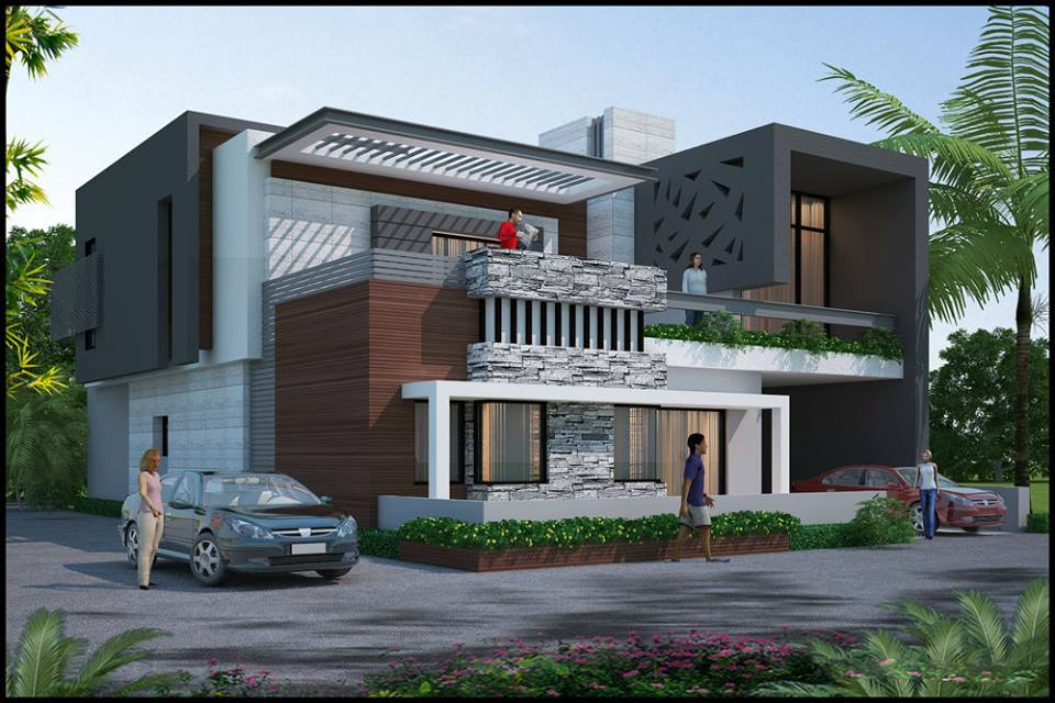 Jaipur interiors exterior for Home architecture front elevation